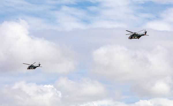 Royal Australian Army MRH90 Taipan's A40-001 and A40-042 at Rockhampton Airport 04-02-19
