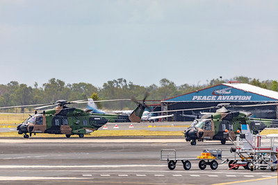Royal Australian Army MRH90 Taipan's A40-001 and A40-042 at Rockhampton Airport 04-02-19