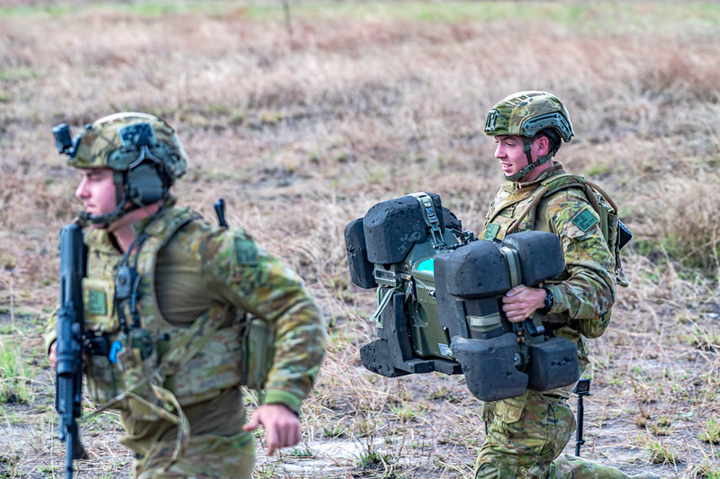 Exercise Talisman Saber 2019.  Soldiers man a surface to air missile system during HiMARS live fire exercise.