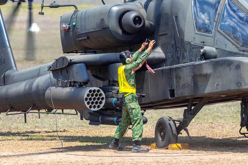 Exercise Wallaby 2018 - AH64 Apache Check Flight