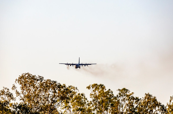 Exercise Wallaby 2019 - Republic of Singapore Air Force C130H Hercules returning to Rockhampton Airport