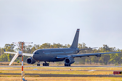 Exercise Wallaby 2019 - Republic of Singapore Air Force Airbus A330-243MRTT 763 arrives at Rockhampton Airport 03-11-2019
