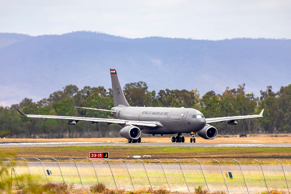 Exercise Wallaby 2019 - Repbulic of Singapore Air Force A330-243 MRTT 763 departing Rockhampton Airport 04-11-2019