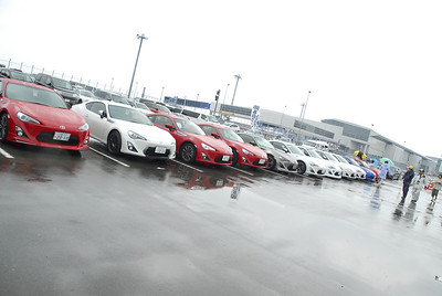A special parking area for anyone who has a Toyota 86 or Subaru BRZ