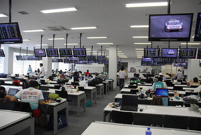 This was my 'office' for this year's race -> Suzuka Circuit Media Center. Fully wired desktop(internet, phone & power) complete with A/C...  all included free 'bento' for lunch!