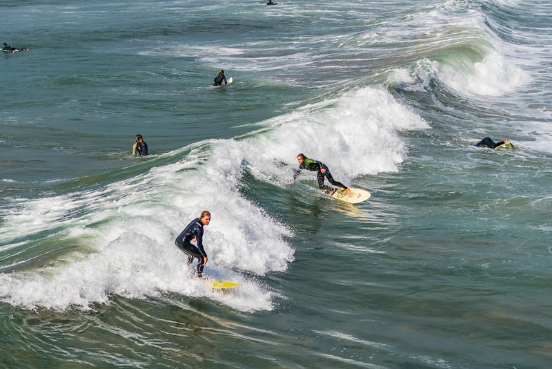 Surfing in Ocean Beach