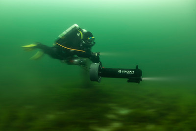 A scooter gets you from A to B fast, and off the beaten tracks. It's great fun, too! #underwaterphotography #techdiving #uwphotography #scuba #underwater #duiken #marinelife #diving #wreckdiving #Nikon #Nauticam #Duikspotter