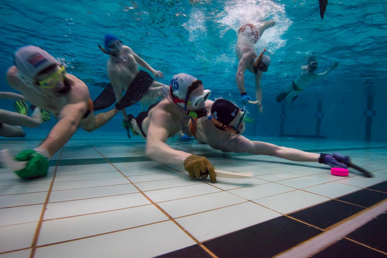 Underwater hockey, national team The Netherlands.