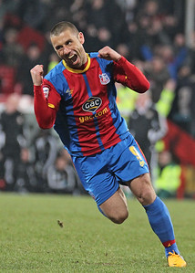 Kevin Phillips celebrates after scoring a hat-trick