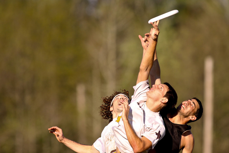 Atlanta, GA: Players vie for the  disc at College Terminus 2012.