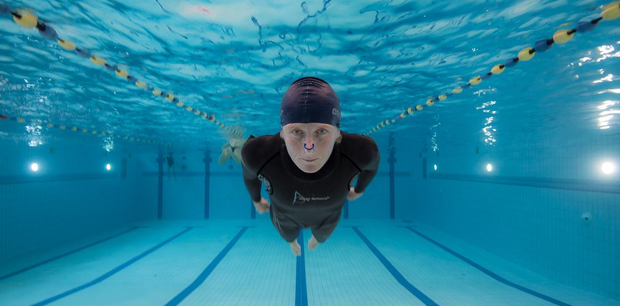 Karin Prins, freediver, The Netherlands.