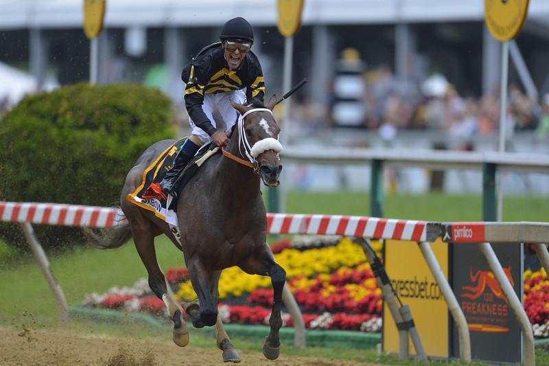 Jockey Gary Stevens Winning the 2013 Preakness