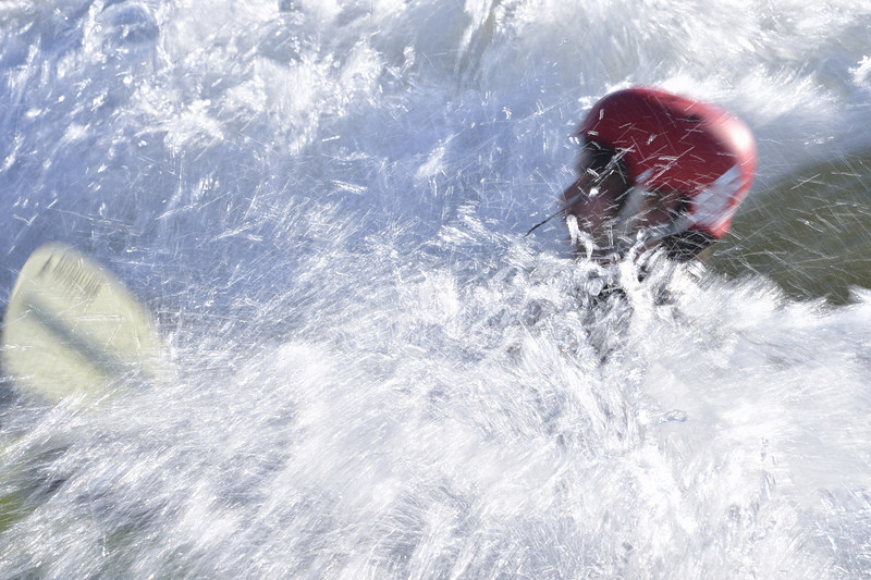 Kayaker in spray, Missoula, Montana