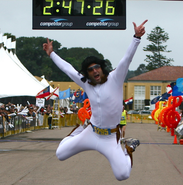 Elvis has reached the finish line.