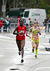 Everlyne Lagat, half-marathon runner-up and defending champion (1:14:21) and third place finisher, Heather Jackson, of Carlsbad (1:14:24).