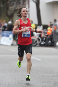The first North County finishers in the marathon were David Kloz, 37, of Oceanside (7th male, 2:36:06)