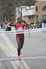 Ethiopian Belianesh Gebre, 25, claimed the woman's crown in 1:12:10.