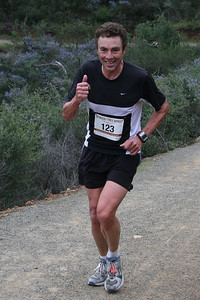 Craig Horner  of San Diego, finished in 1:04:29, first in the 60-64 men's age group.