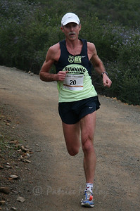 Martin Ellison, 55,  of Escondido finished second overall in 46:20  	.