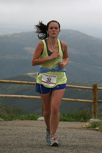 Alexandra Garcia, 23, of 	Carlsbad, at the summit, finishing in 1:19:16.