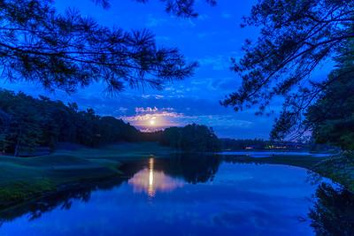 Strawberry Moon over Big Canoe, GA June 20, 2016