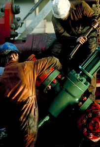 Oil Workers, North Sea