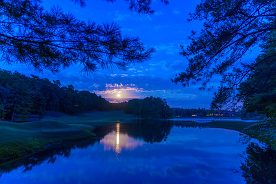 Strawberry Moon over Big Canoe, GA June 20, 2016