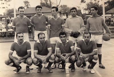 Eng Daniel, Maia, Jerónimo, Fernando Figueiredo, Pedrosa?, Pereira 70-Andrada - Futebol de Salão na Casa de Pessoal