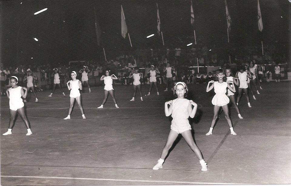 1970 - Sarau Ginástica   Lena Jaime Santos, Isabel Quadrado (Bélinha) e Ivone Esteves Silva.
