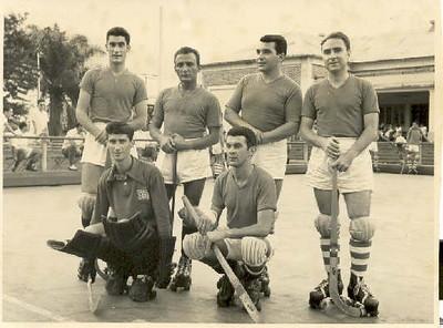Jogo em Andrada  Firmino, Vítor Pereira, Valdemiro, Casales, Elias Ferreira e José Gameiro
