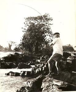 Sebastião Vaz no rio Cassai