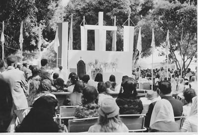 Andrada - Missa Campal  Visita do Bispo
