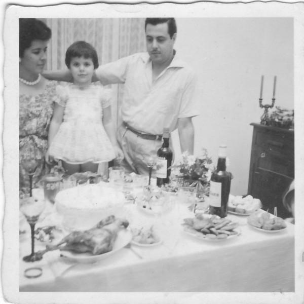 Dundo/Barragem - 1960, o 4º aniversário da Ana Maria Josefa
