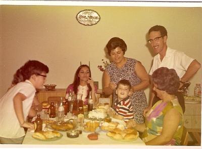 Casal Carreira, Lisa Pereira Santos, filhos Jose Manuel e  Carlos Carreira e Lurdes Mota