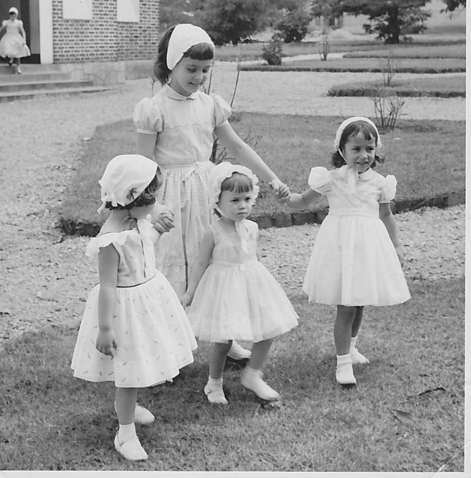 1958 Andrada,   Baptizado Guida Tavares Olga Humberto Sousa, Leninha Teixeira e Olga Jorge Silva
