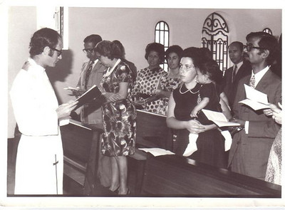 Baptizado filho do casal Menezes