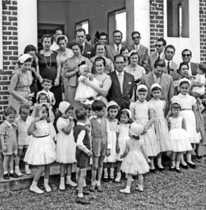 1958 Andrada,  Baptizado Guida Tavares  Casais: Tavares, Medeiros,Loureiros, Brazinhas, Pombos, Humberto Sousas, Teixeiras, Casanovas, Valdoleiros, Jorge Silvas e filhos