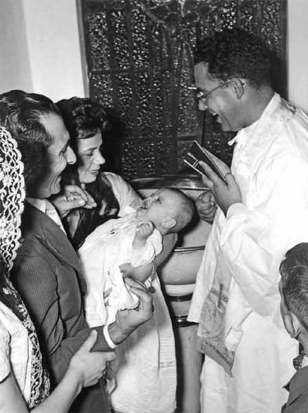 Baptizado do Quim Paulo Gameiro Casal Loureiro e Padre Casimiro