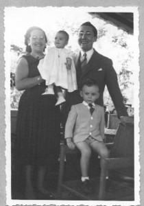 Familia Moreira Rato filhos: Lili e Joca