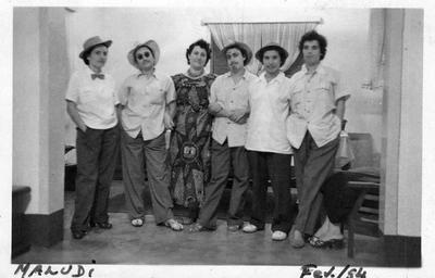 Carnaval - Maludi - em casa de Lutero de Almeida Esposa de Dr. Arruda, esposa de Domingos Andrade, Bia Bastos, Adriana Nápoles, Ester Melo Abreu e Zita Verdial