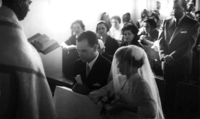 Andrada. 1955. MARIA ALICE E ORLANDO TEIXEIRA Casamento da  Maria Alice (Tia Alice para muitos) com o  Orlando Teixeira (das flores) em Andrada.
