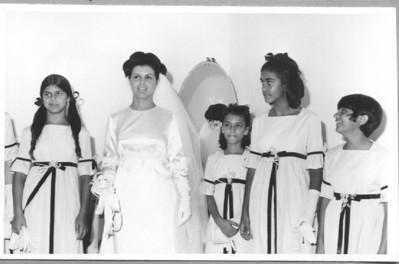 Andrada. 29/09/1968. NÉ JOSEFA E ANTÓNIO CAMPOS Ana Maria Josefa, Né Josefa, Lili Moreira Rato, Carla Silva, Paula Pinho Barros