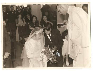 """Casamento por procuracao da Bininha """"Manuel Augusto"""" Pinho Barros a representar o noivo Manuel Augusto"""