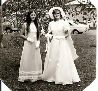 Lukapa. 24/9/1972. NANY TAVARES E TOZÉ LOURENÇO Zélinha e Nany