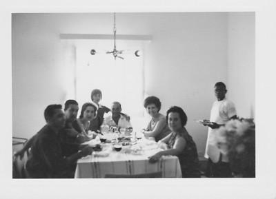 Andrada casa dos Adalbertos: Medeiros, Tavares, Teresa Adalberto, Zelinha, Adalberto, Aurora Tavares e Elizabete Medeiros
