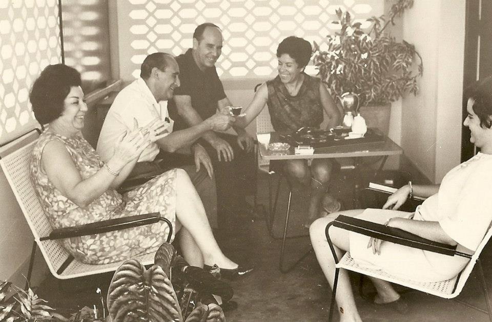 Casal Videiras, e casal Ribeiros e filha Carmencita