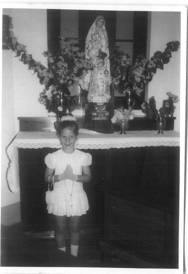 1ª comunhão em Andrada em 1974