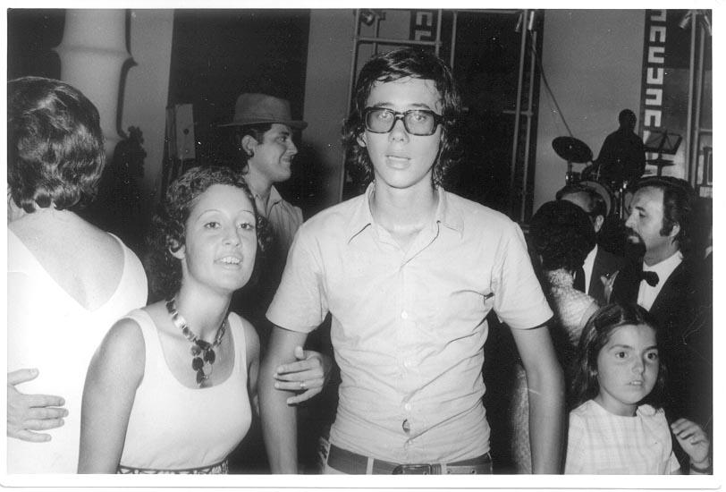 Fim do Ano 73-74 Isabel Henning, Luis Valente, Leonor Melo Breyner, Quim Costa