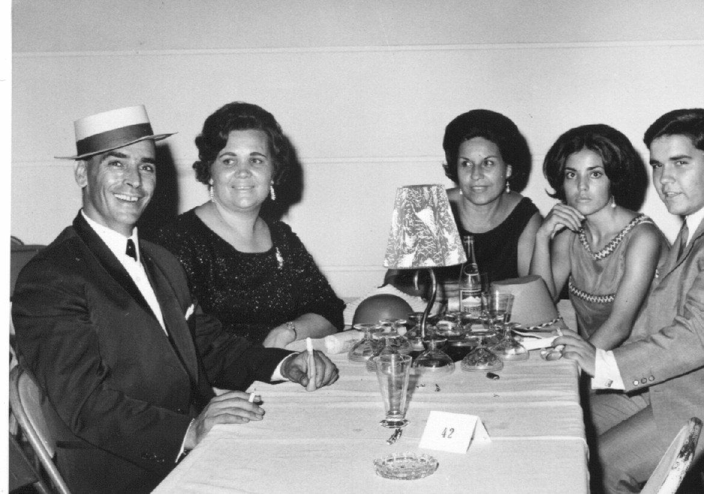 Dundo 1968 Arlindo Matos e esposa, esposa de Aires Marques, Lisa Teixeira, Carlos Aires Marques