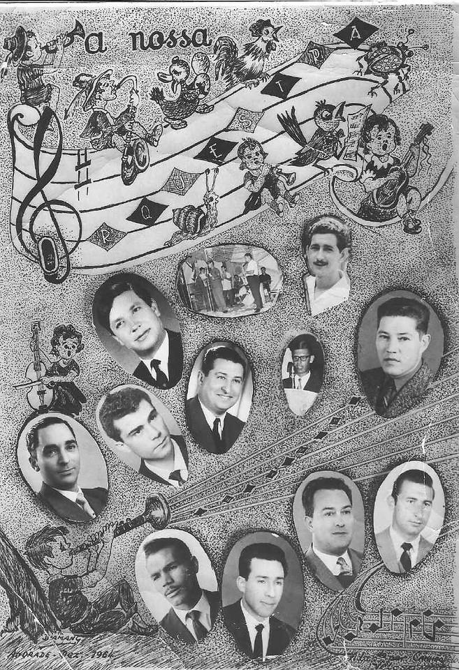 Orquestra de Andrada 7 de Maio 1965 Caceiro (acordeão), Tavares( saxofone), Miguel Martins( viola), Rebocho (vocalista) e???